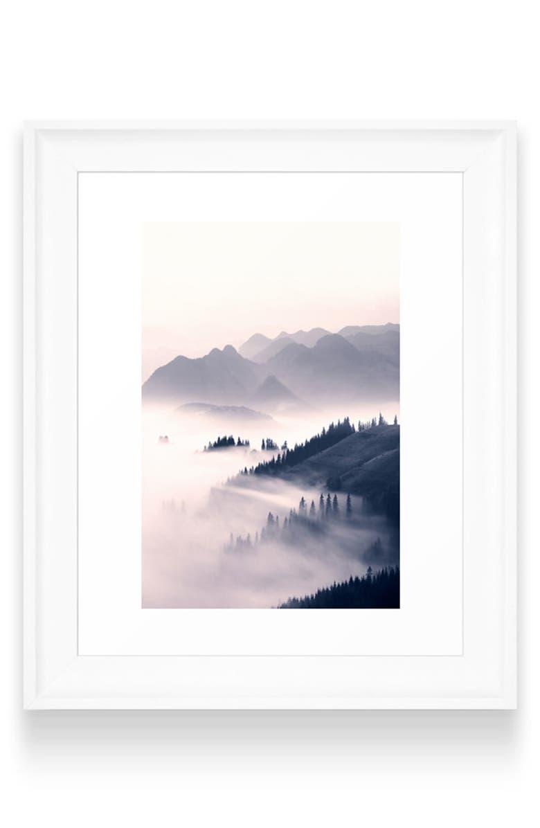 DENY DESIGNS Morning Sun Art Print, Main, color, WHITE FRAME- 8X10