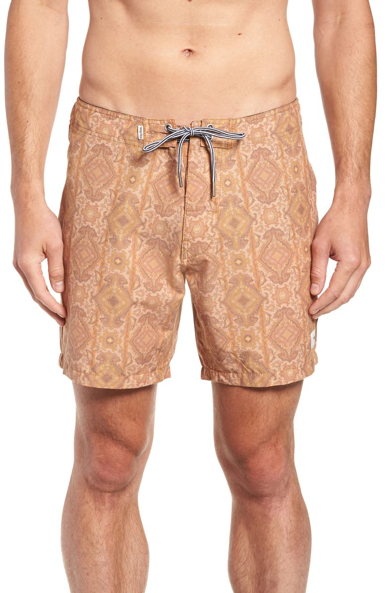 1a20f75442 Sorrento Swim Trunks, Main, color, MARIGOLD