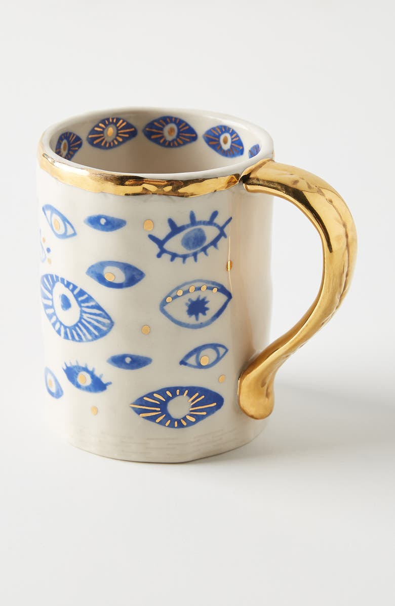 ANTHROPOLOGIE HOME Hamsa Mug, Main, color, 100