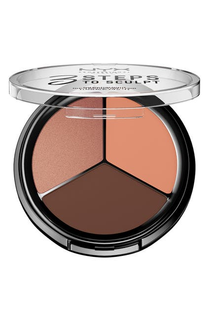 Image of NYX COSMETICS 3 Steps To Sculpt Highlighter & Contour Palette - Deep