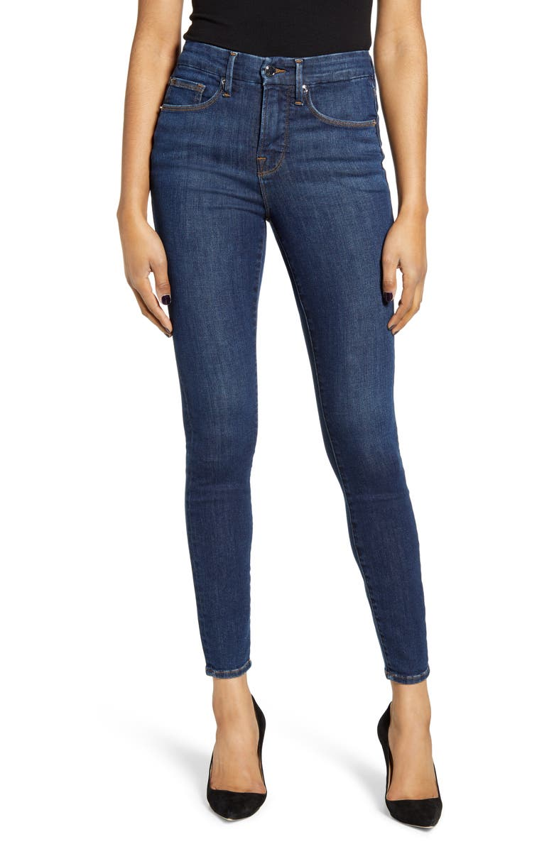 Good Legs High Waist Skinny Jeans, Main, color, BLUE500