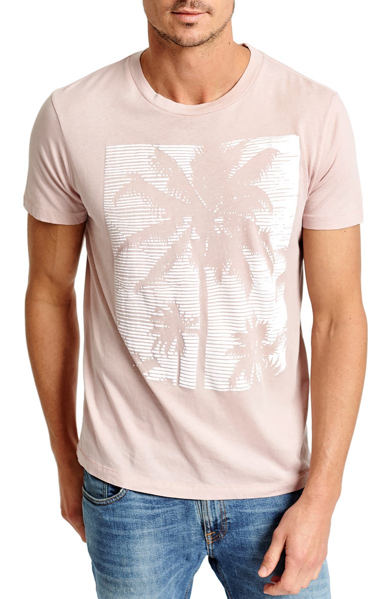 SOL ANGELES Pink Palm Graphic T-Shirt, Main, color, DUSTY