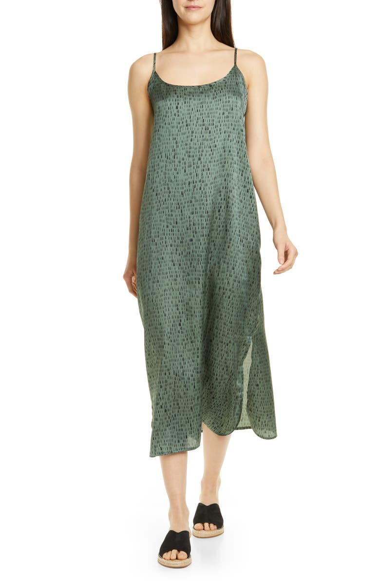 Sleeveless Silk & Organic Cotton Maxi Dress by Eileen Fisher