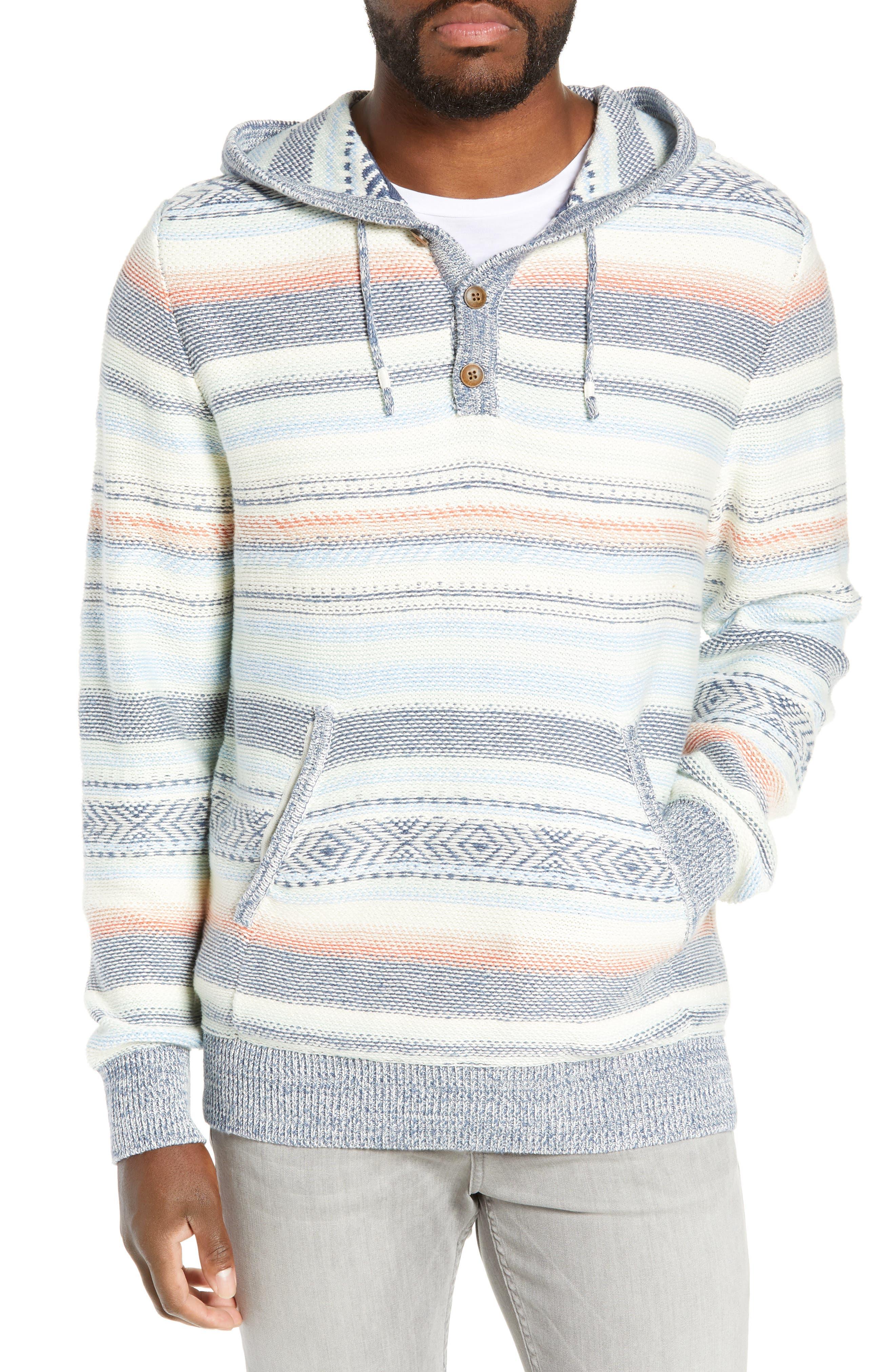 Faherty Baja Stripe Sweater, Blue