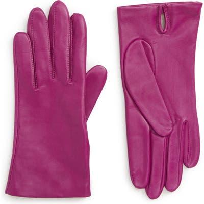 Nordstrom Lambskin Leather Gloves, Pink