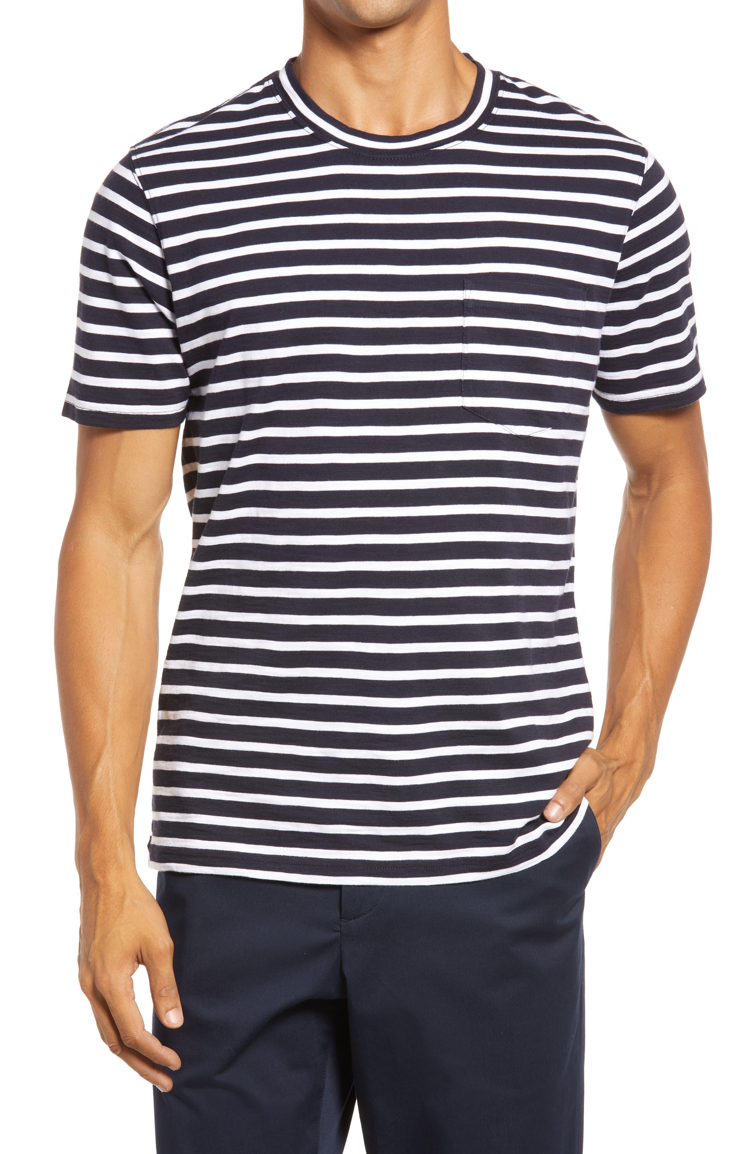 Men's Slub Stripe Pocket T-Shirt