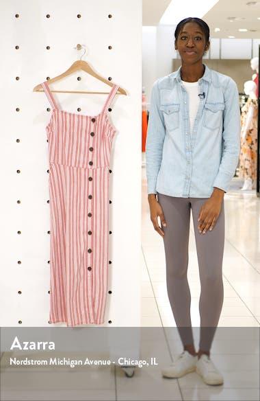 Asymmetrical Button Linen Blend Midi Dress, sales video thumbnail