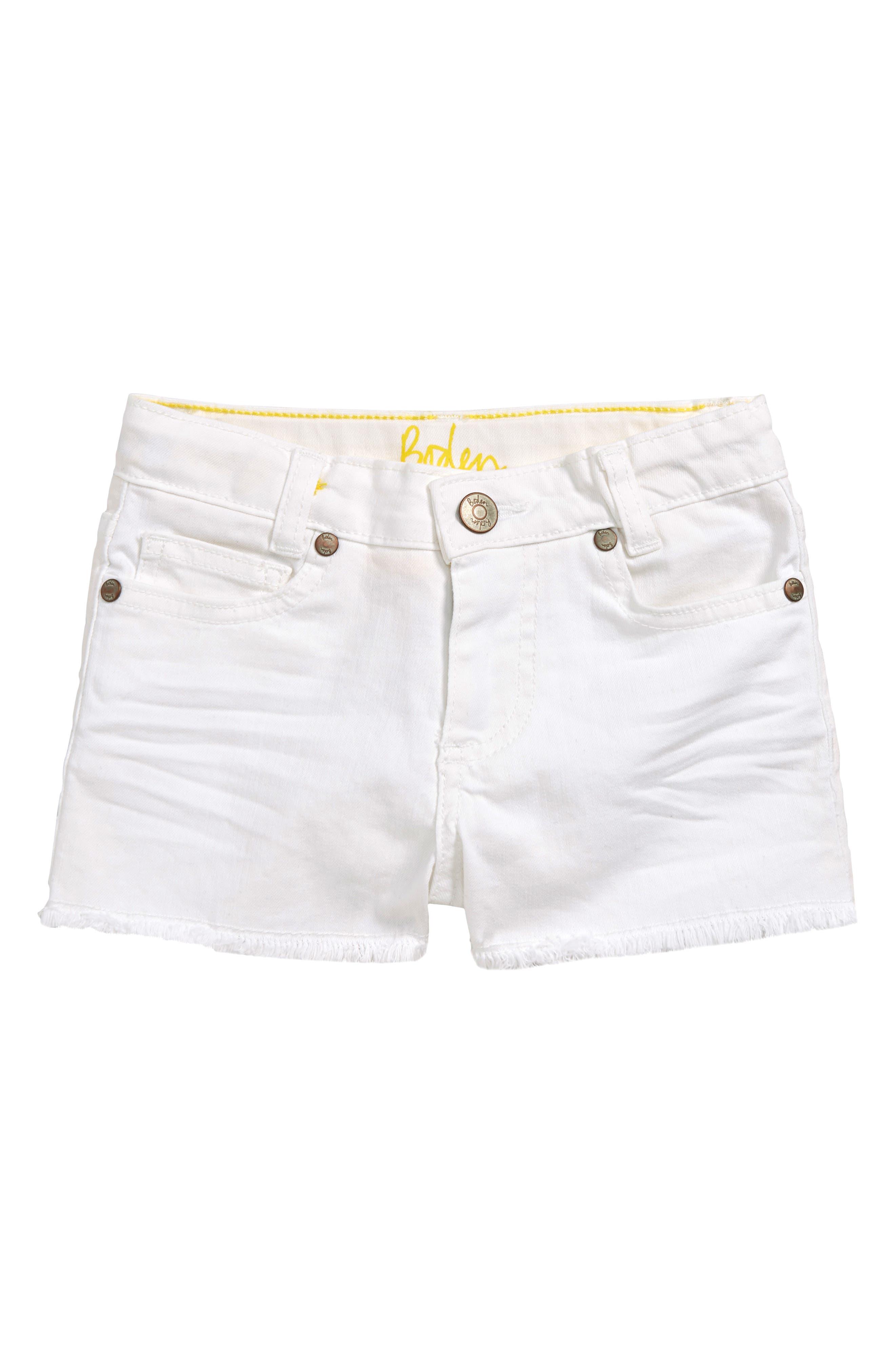 Girls Mini Boden Cutoff Denim Shorts Size 9Y  Yellow