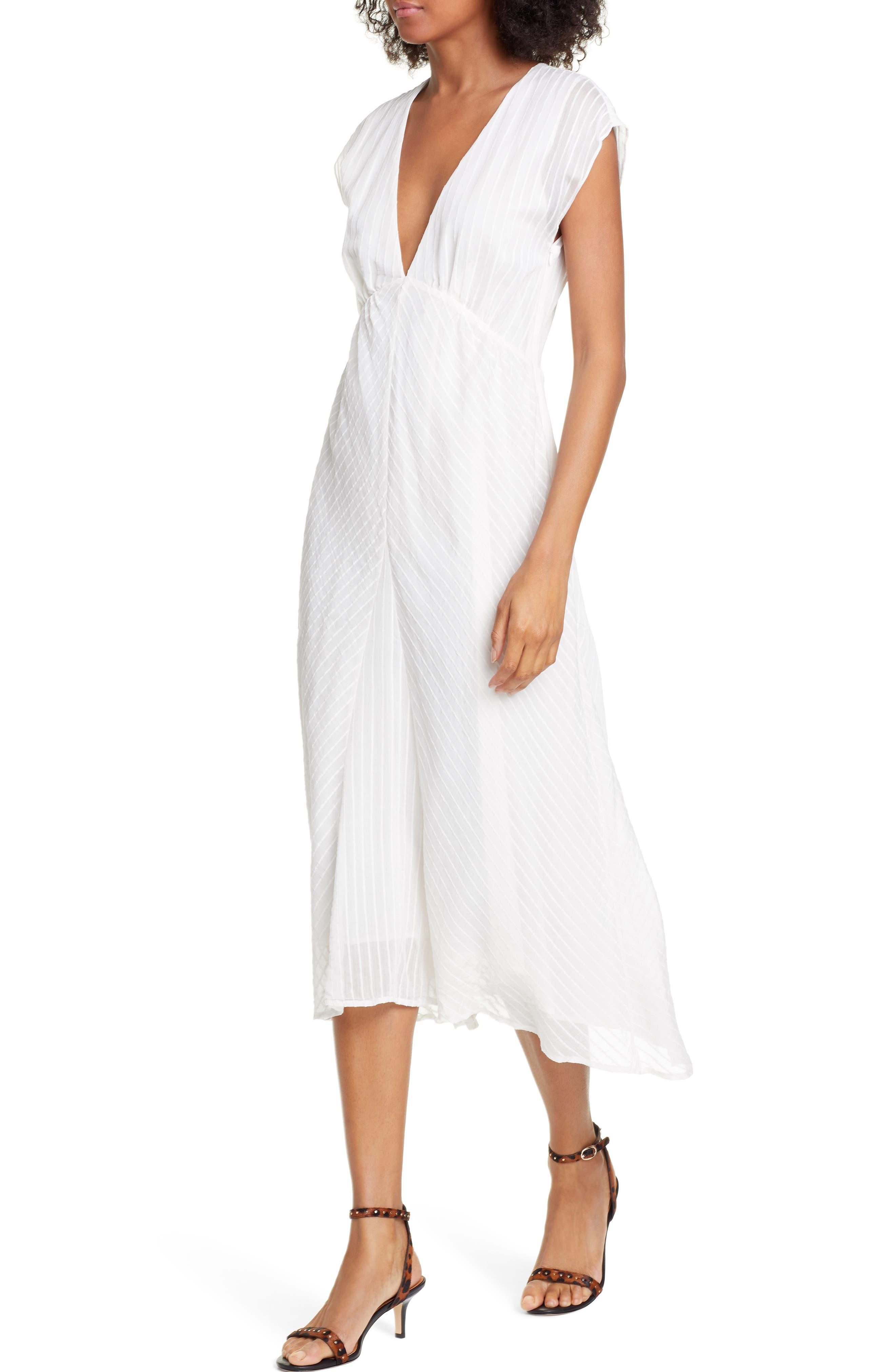 ,                             Shaeryl Midi Dress,                             Alternate thumbnail 5, color,                             PORCELAIN