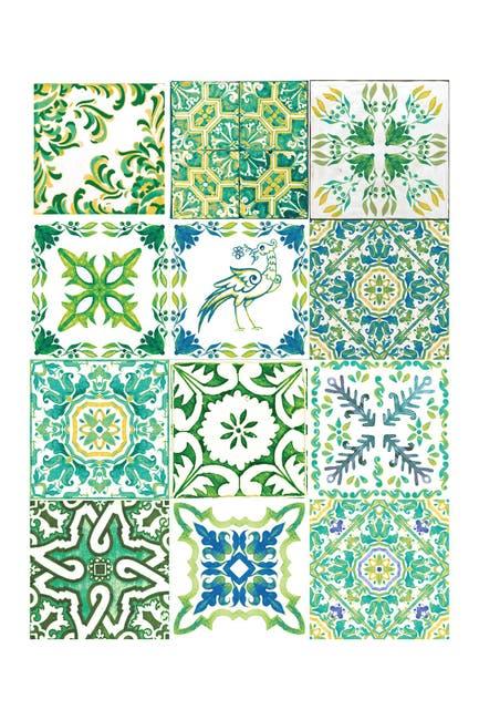 Image of WalPlus Green Turkish Mosaic Wall Sticker Decal