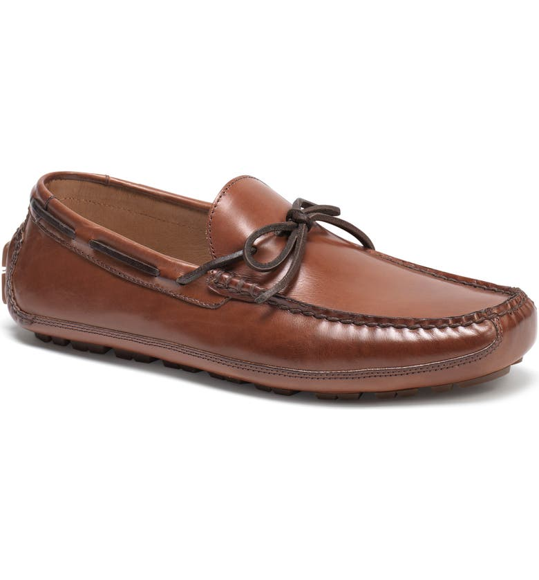 TRASK Dillion Driving Loafer, Main, color, BROWN LEATHER
