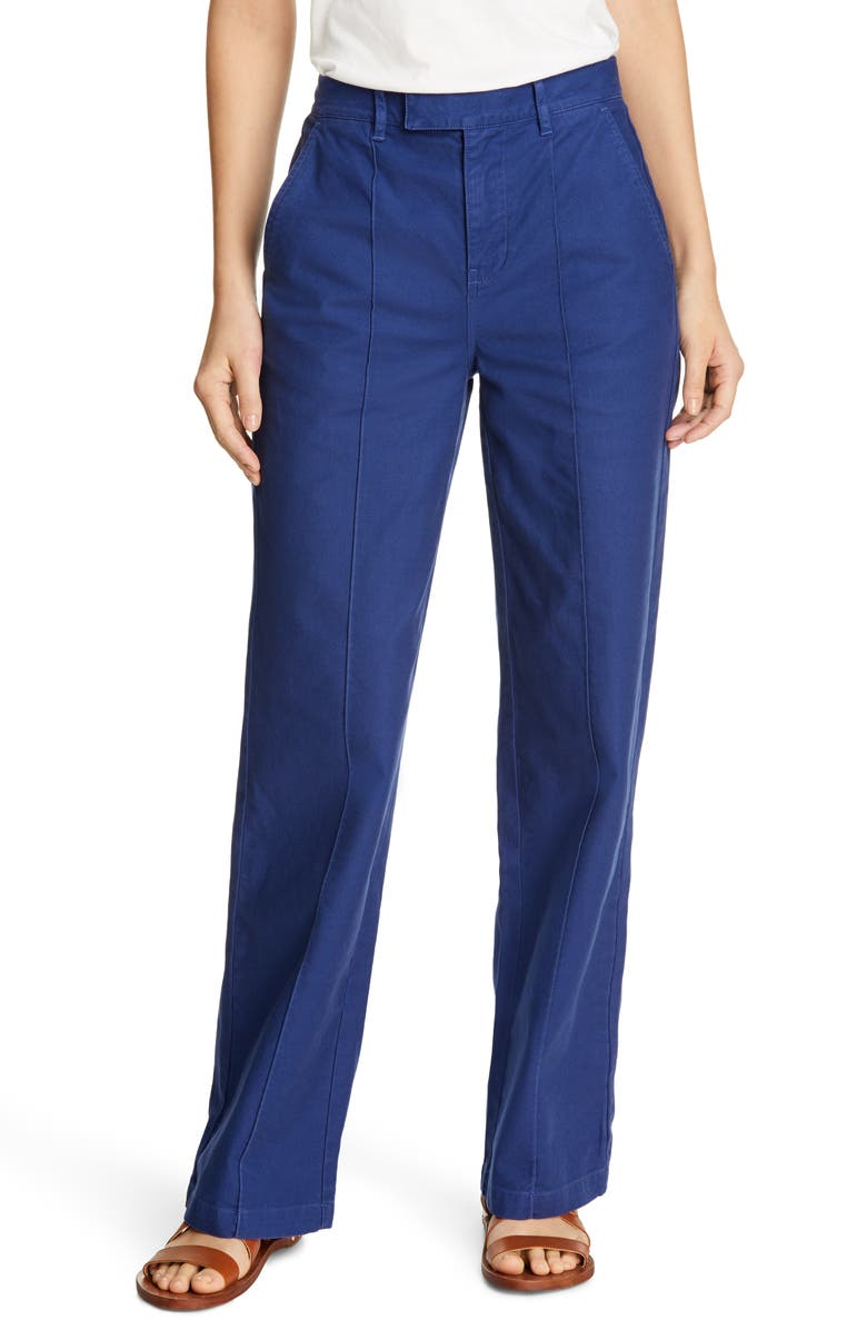 ALEX MILL Stretch Cotton Twill Trousers, Main, color, NAVY