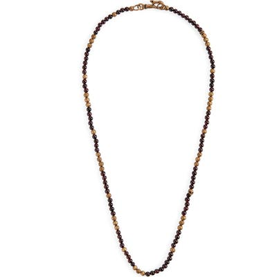 John Varvatos Distressed Bead Necklace