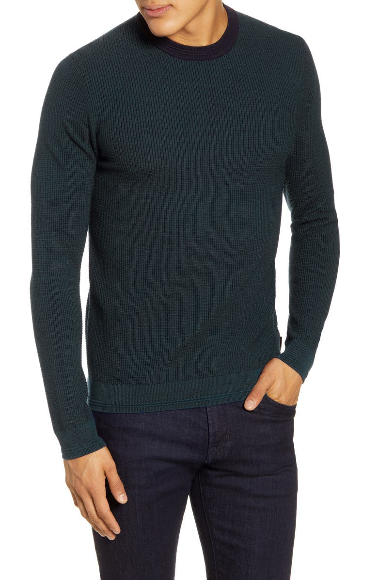 TED BAKER LONDON Uno Slim Fit Wool Sweater, Main, color, 420