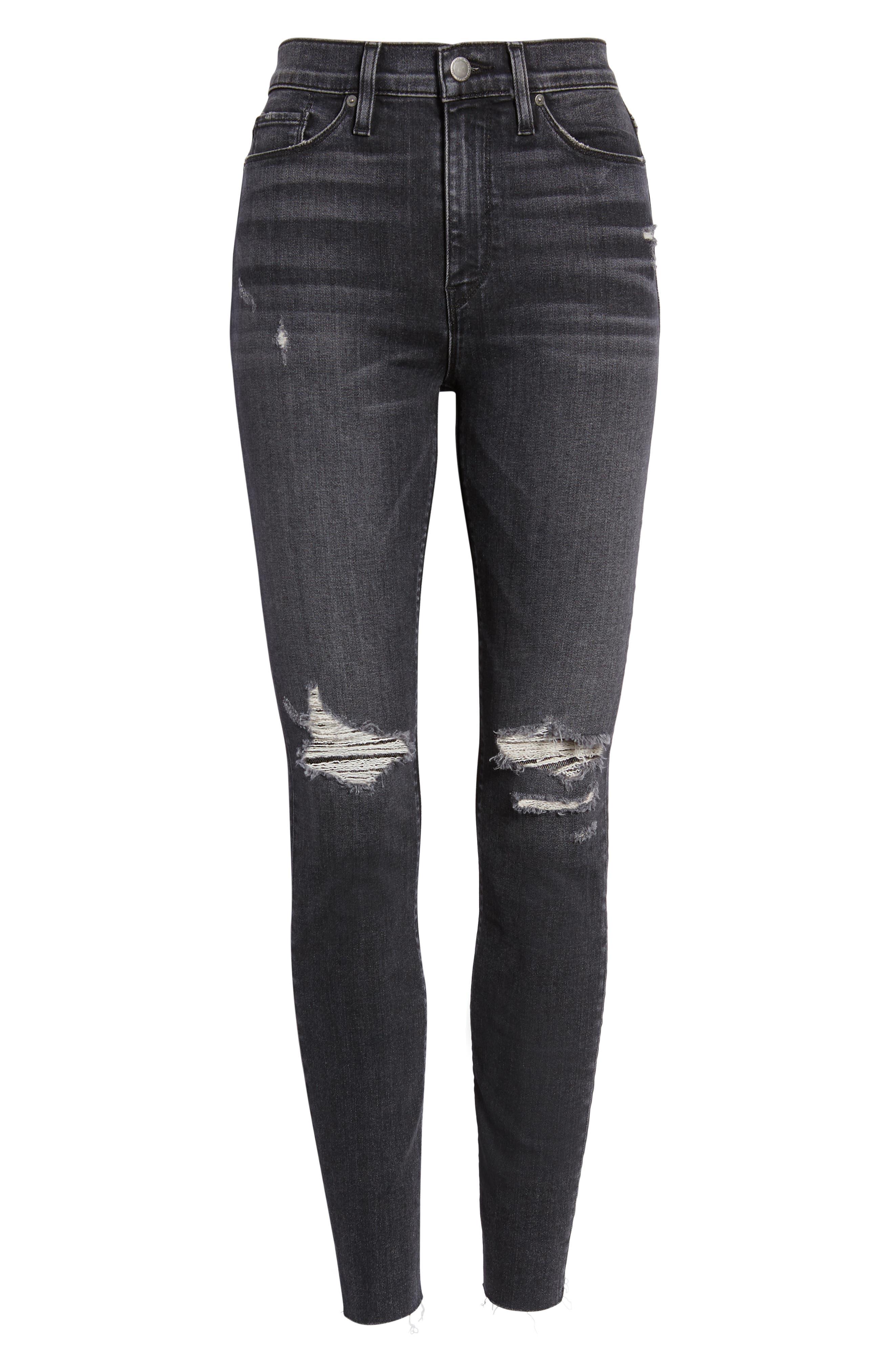 ,                             Barbara Distressed High Waist Ankle Skinny Jeans,                             Alternate thumbnail 7, color,                             WORN KONA