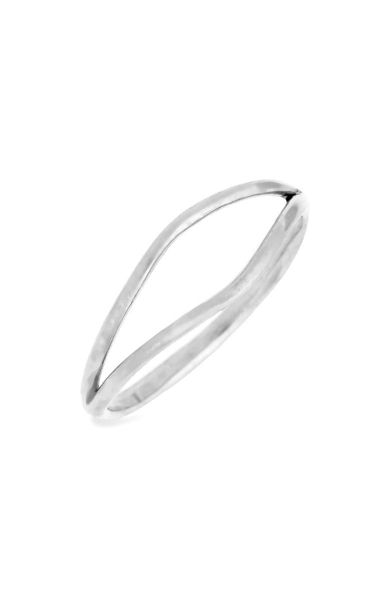 WWAKE Split Ring, Main, color, STERLING SILVER