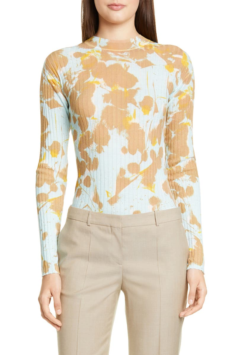 BOSS Fyra Sweater, Main, color, WARM STONE FANTASY