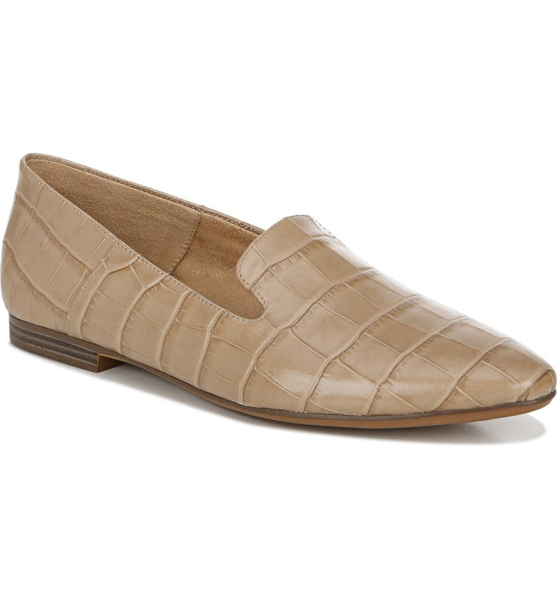 NATURALIZER Lorna Collapsible Heel Loafer, Main, color, BAMBOO CROCO PRINT