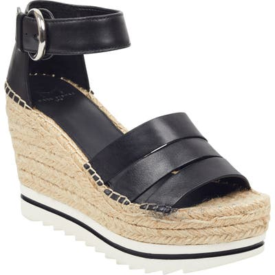 Marc Fisher Ltd Sammy Espadrille Wedge Sandal- Black