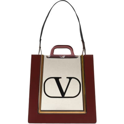 Valentino Garavani Reveal Transparent Tote - Red