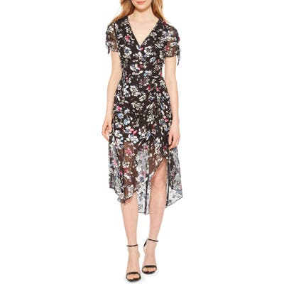 Parker Lizzy Floral High/low Dress, Blue