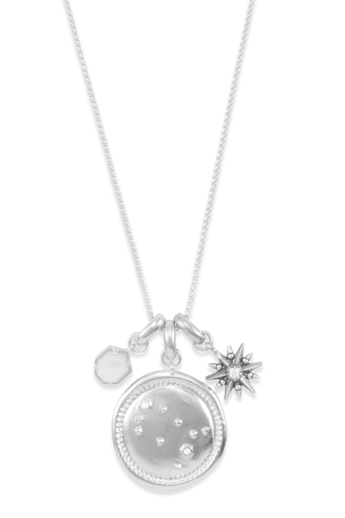 Image of Kendra Scott Rhodium Plated Gemini Charm Necklace
