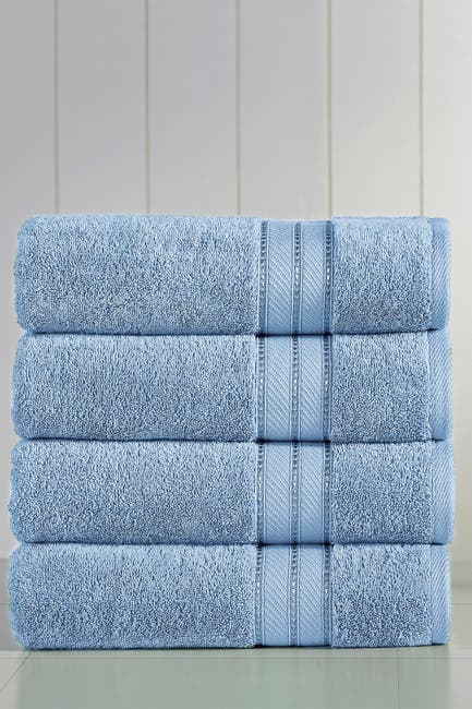 Image of Modern Threads Spunloft Bath Towel - Set of 4 - Blue