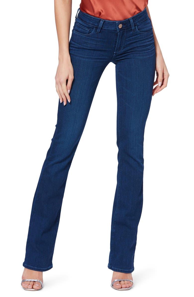 PAIGE Transcend - Manhattan Slim Bootcut Jeans, Main, color, HONOLULU