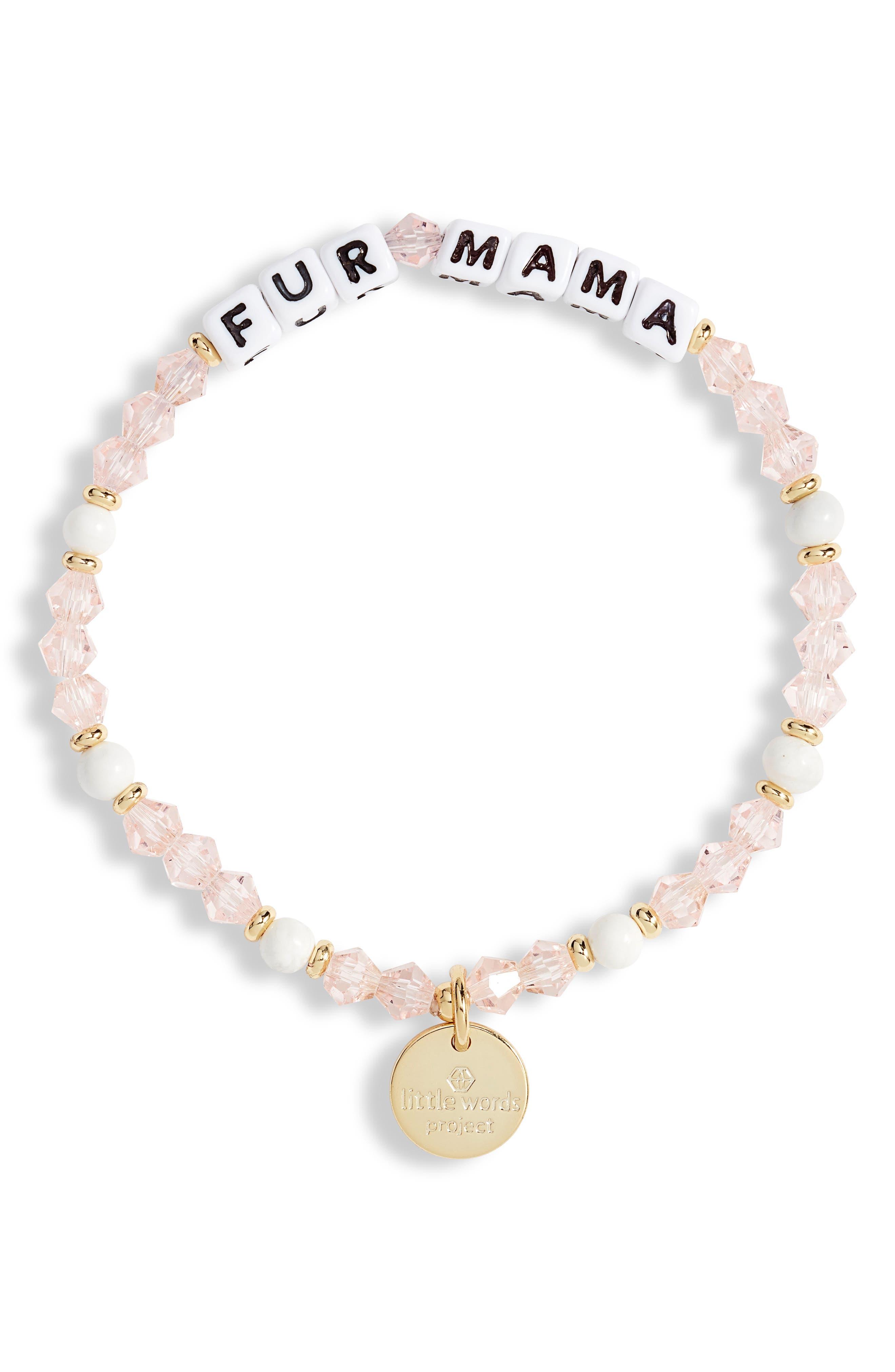 Fur Mama Beaded Stretch Bracelet