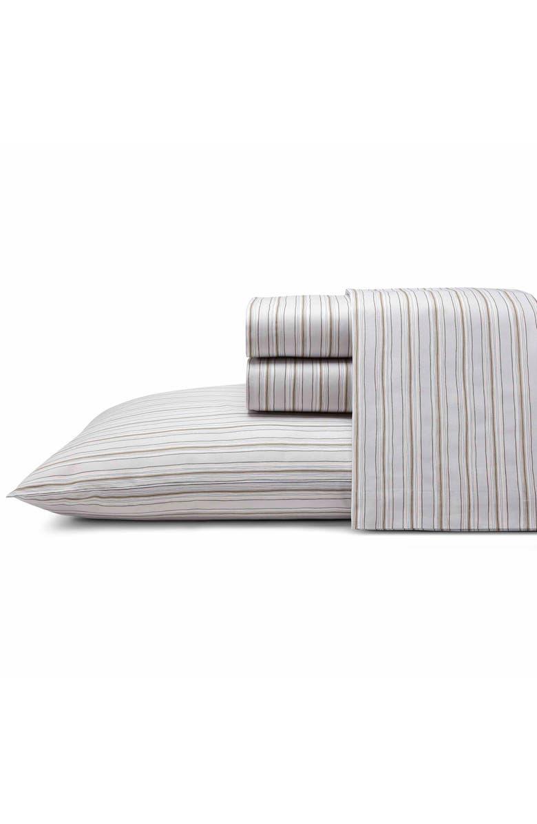 ED ELLEN DEGENERES Sketched Stripe 200 Thread Count Sheet Set, Main, color, LIGHT GREY