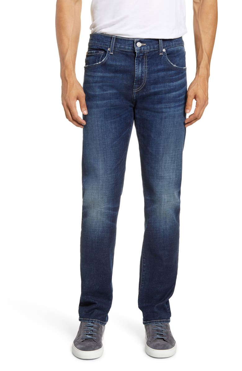 7 FOR ALL MANKIND<SUP>®</SUP> Adrien Slim Tapered Leg Jeans, Main, color, HYPERION