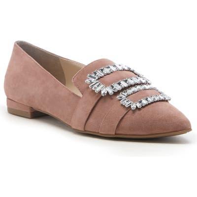 Sole Society Kelynn Crystal Buckle Flat- Pink