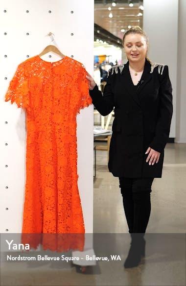 Flutter Sleeve Lace Midi Dress, sales video thumbnail