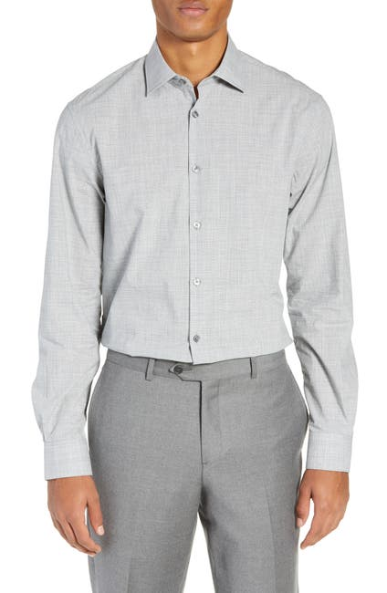 Image of John Varvatos Star USA Regular Fit Check Dress Shirt