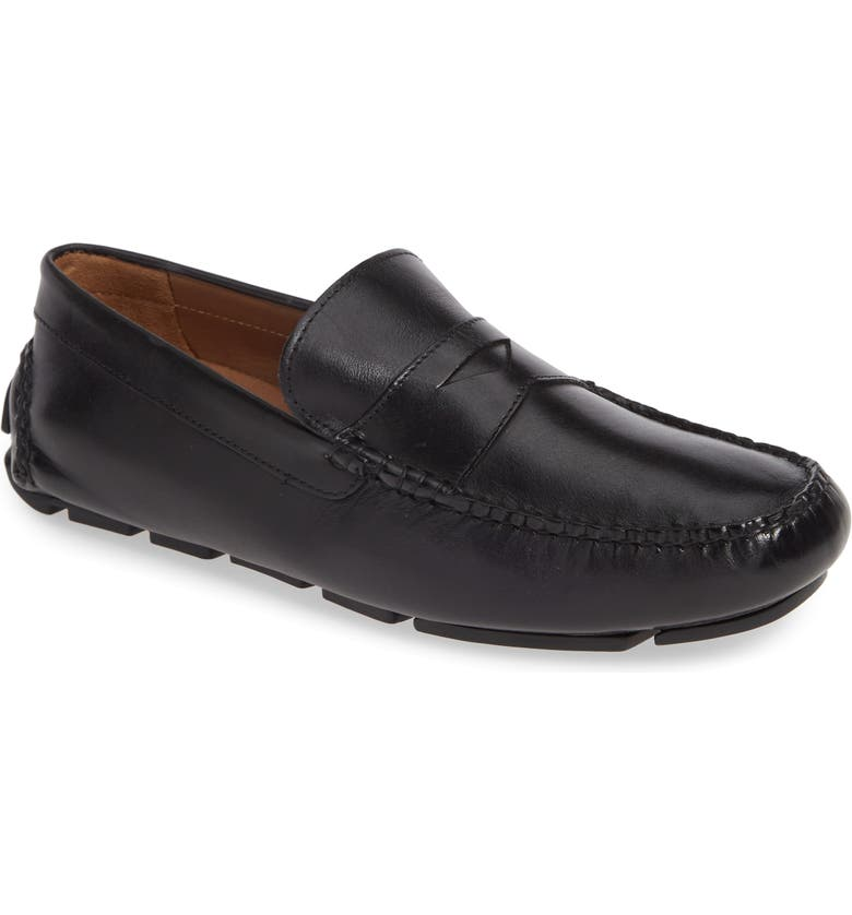 NORDSTROM MEN'S SHOP Parker Driving Shoe, Main, color, BLACK LEATHER