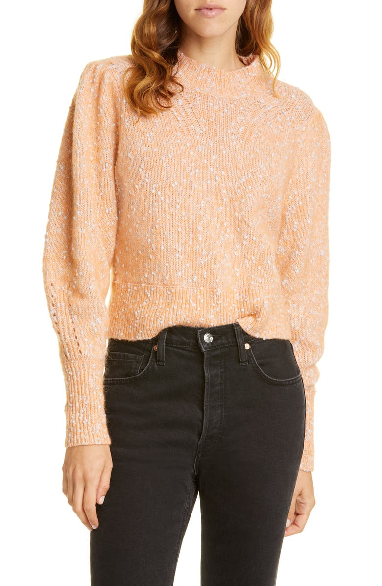 REBECCA TAYLOR Optic Tweed Cotton, Alpaca & Wool Blend Sweater, Main, color, 950