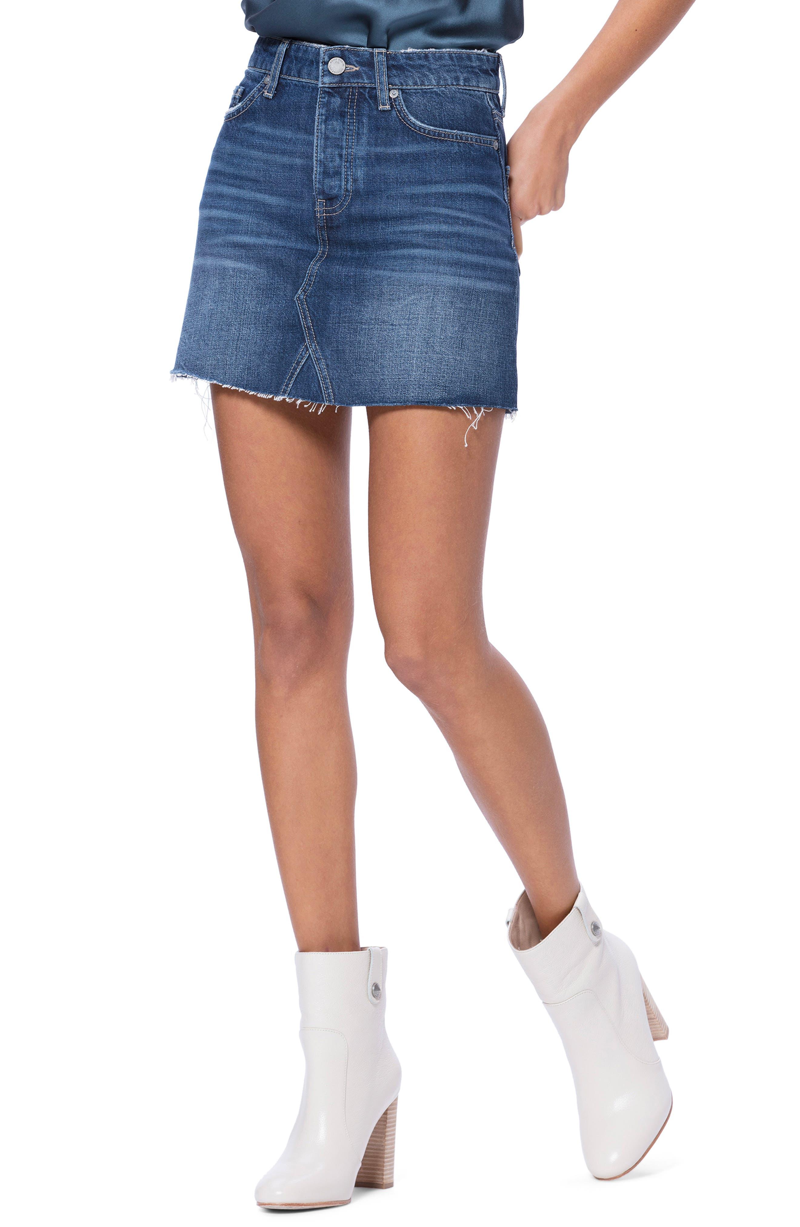 Image of PAIGE Aideen Denim Miniskirt
