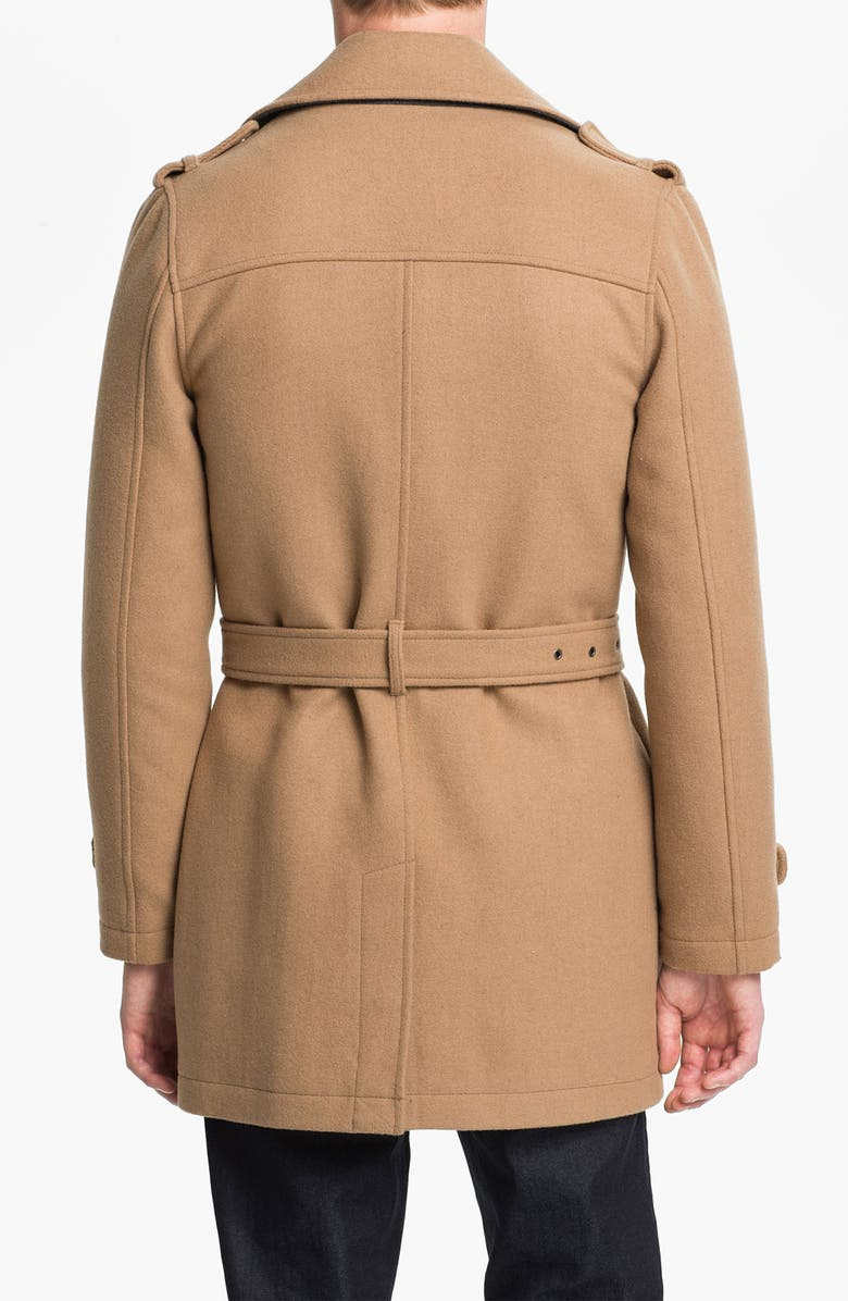 TOPMAN Double Breasted Trench Coat, Main, color, 250