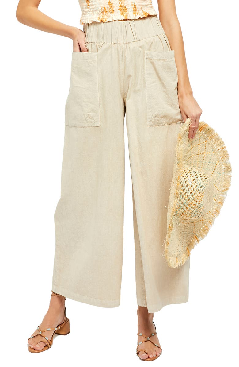 FREE PEOPLE Cosmic Ways Wide Leg Pants, Main, color, AKOYA POLISH