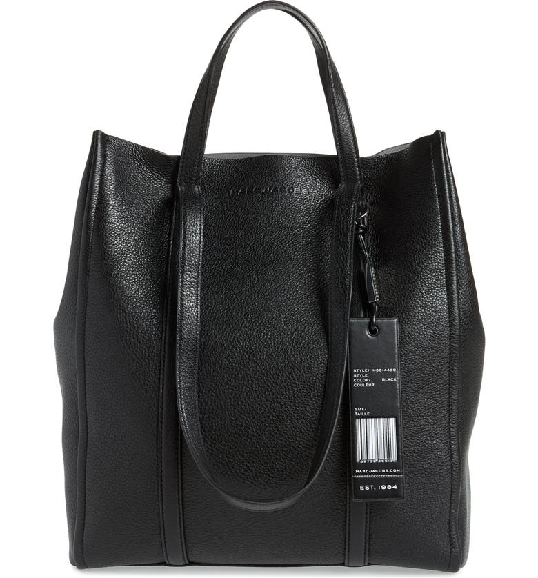 THE MARC JACOBS MARC JACOBS The Tag 31 Leather Tote, Main, color, 001