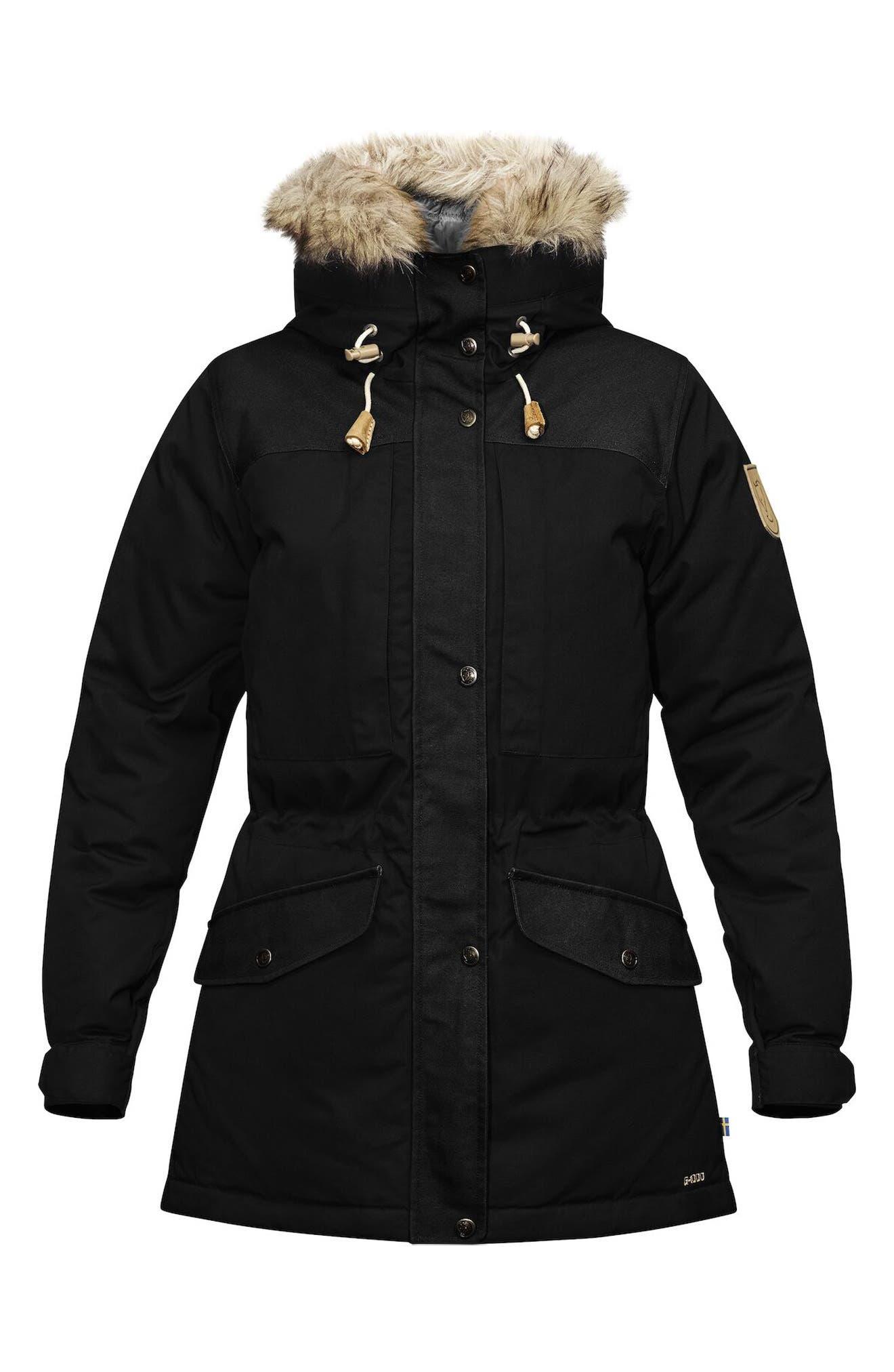 Singi 600 Fill Power Down Jacket With Faux Fur Trim