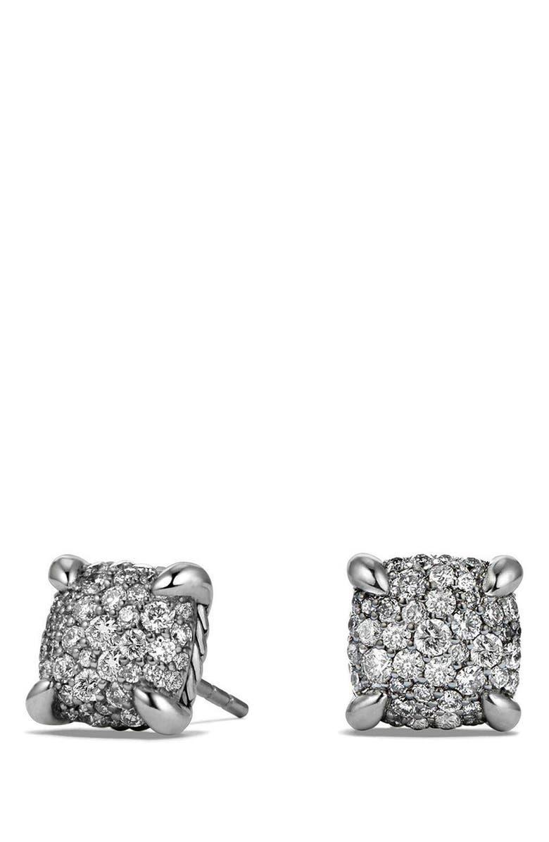 DAVID YURMAN 'Châtelaine' Earrings with Diamonds, Main, color, SILVER