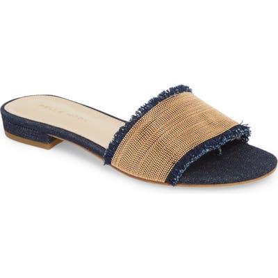 Pelle Moda Bayer Embellished Slide Sandal, Blue