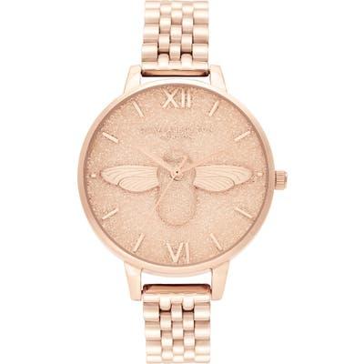 Olivia Burton Glitter Dial Bracelet Watch,