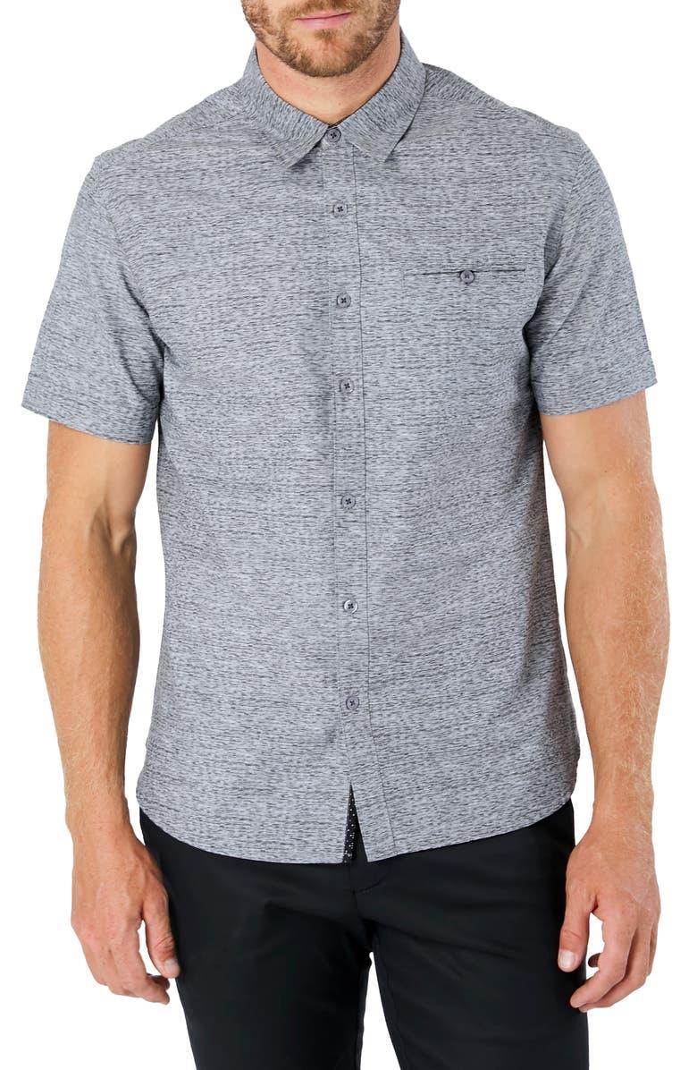 7 DIAMONDS Evening Flow Button-Up Shirt, Main, color, LIGHT GREY