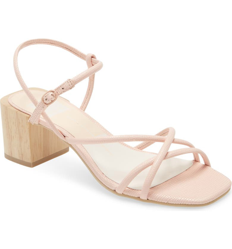 DOLCE VITA Zayla Block Heel Sandal, Main, color, ROSE EMBOSSED LIZARD PRINT