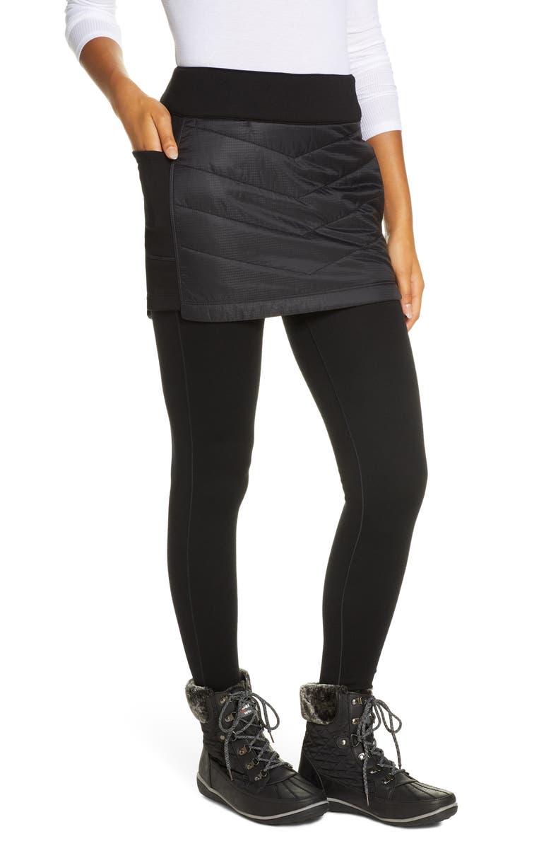 SMARTWOOL Smartloft 60 Quilted Skirt, Main, color, BLACK