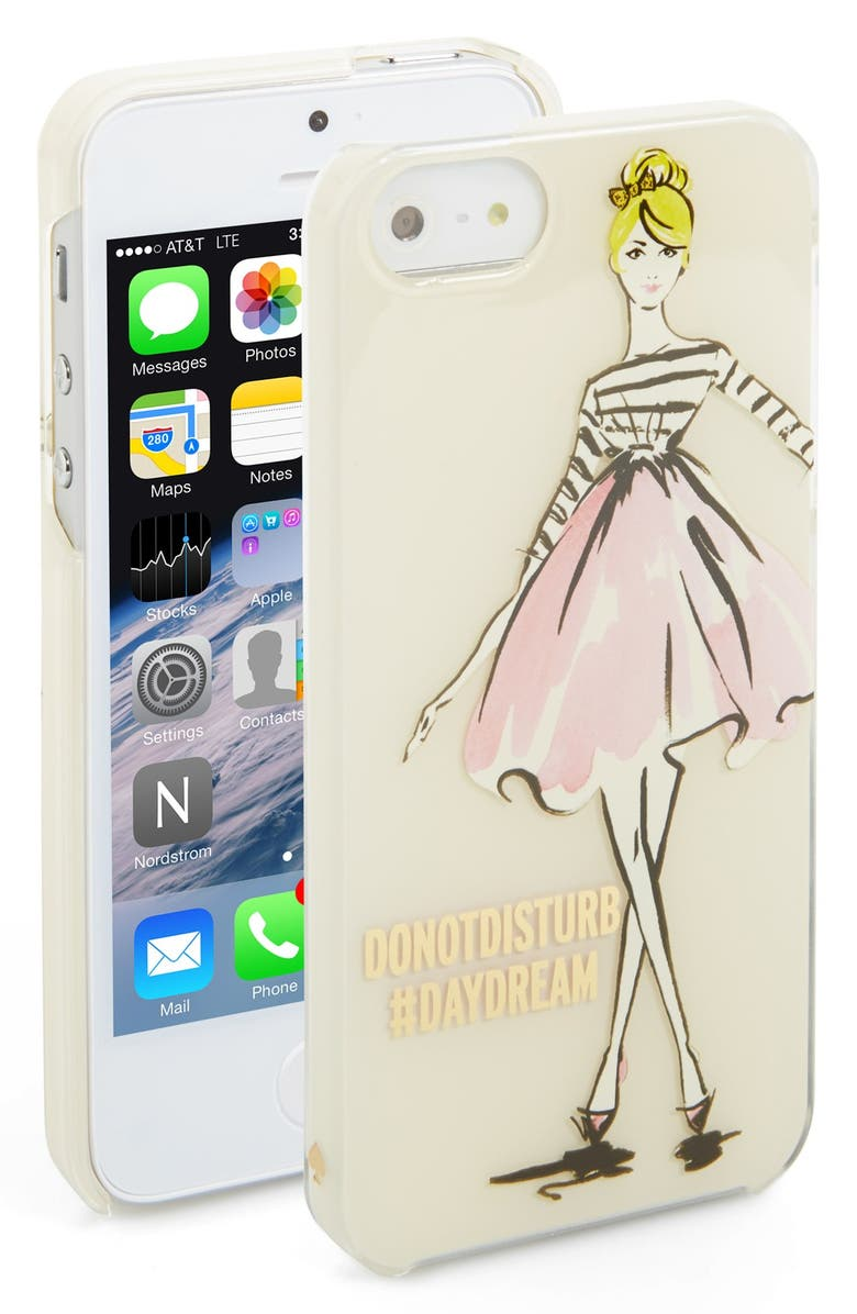 KATE SPADE NEW YORK 'nice girl' iPhone 5 & 5s case, Main, color, 100