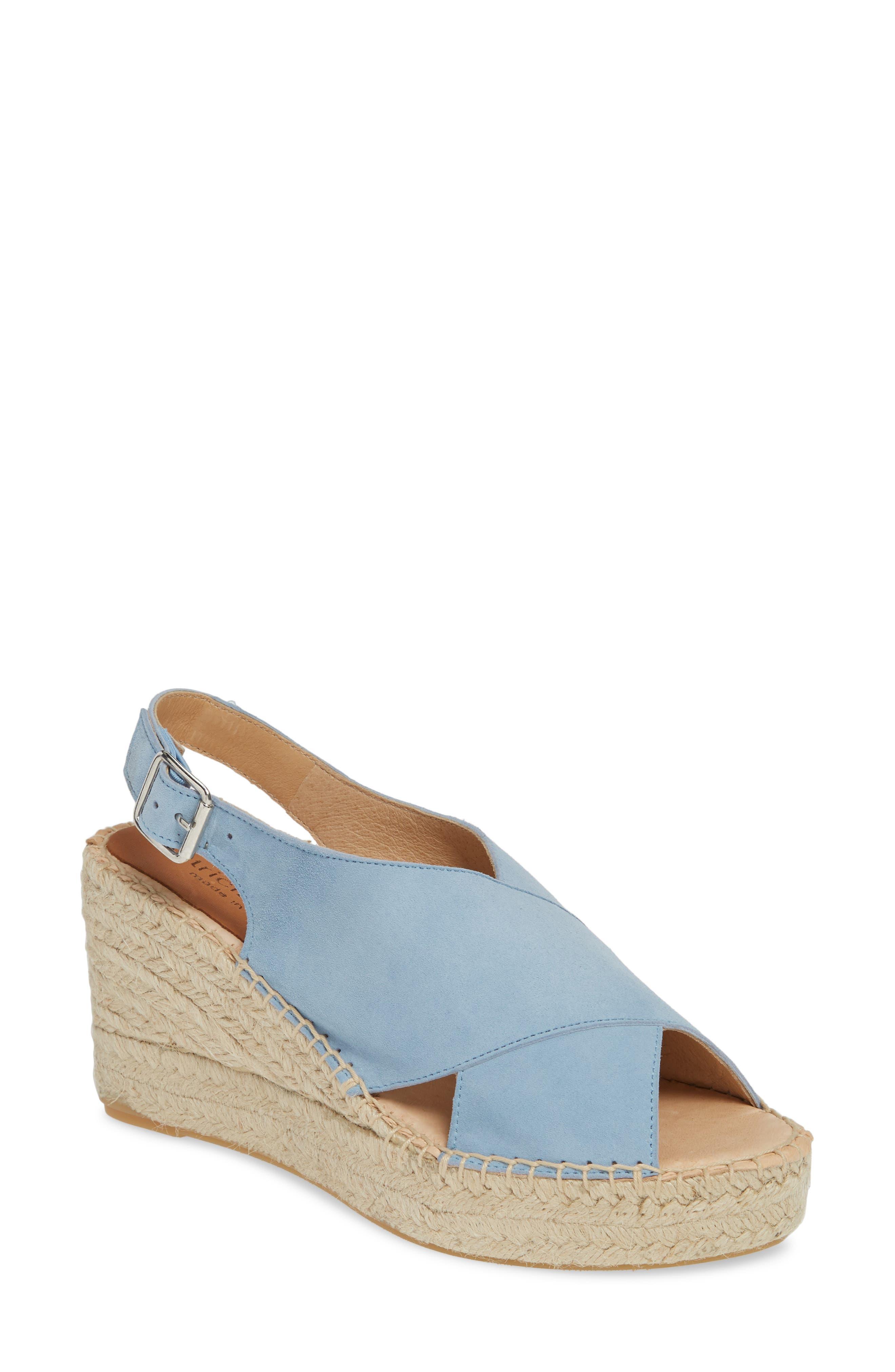 Patricia Green Madeline Espadrille Wedge Sandal, Blue