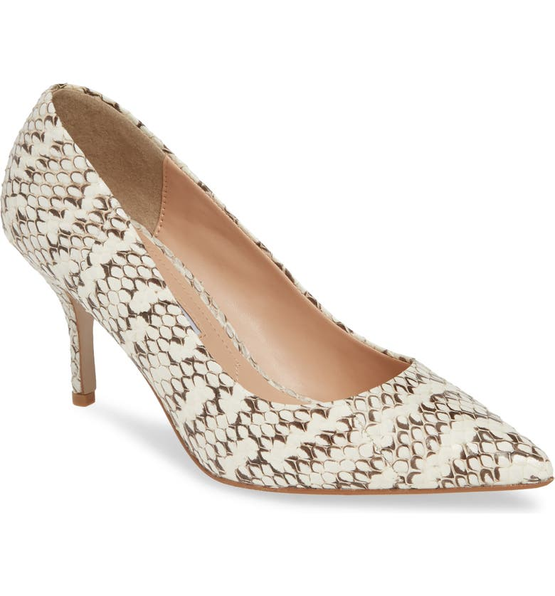 CHARLES DAVID Arvin Pump, Main, color, BLACK/ WHITE PRINT LEATHER